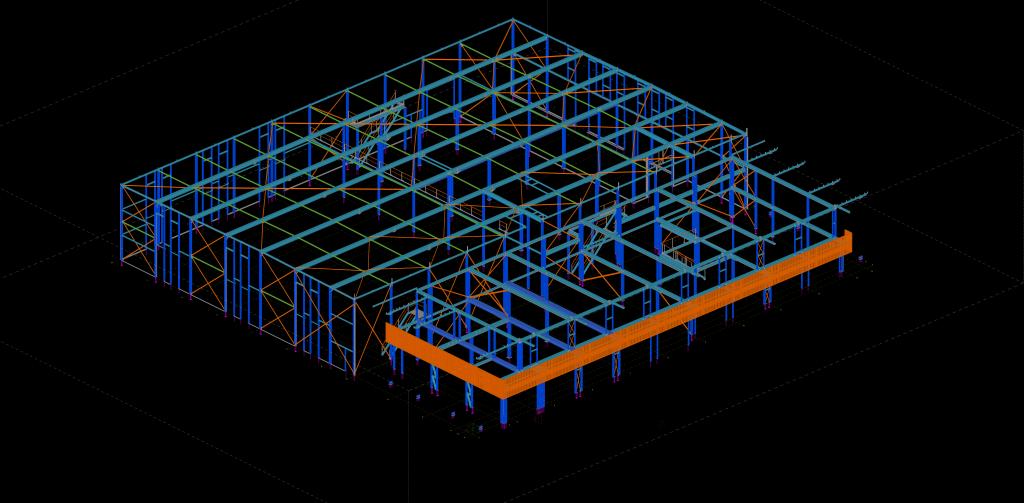3D Tekla model van het nieuwbouw project No Excess