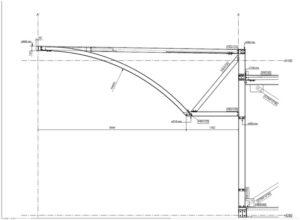 Eerste paal voor Bilal Chicken centre - Constructie luifel
