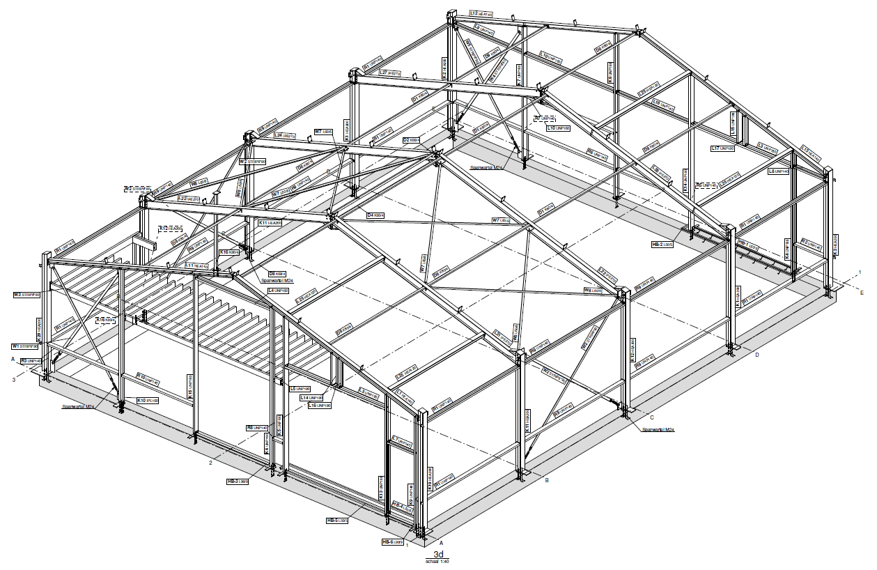 Voorbeeld Norel Tekla Model