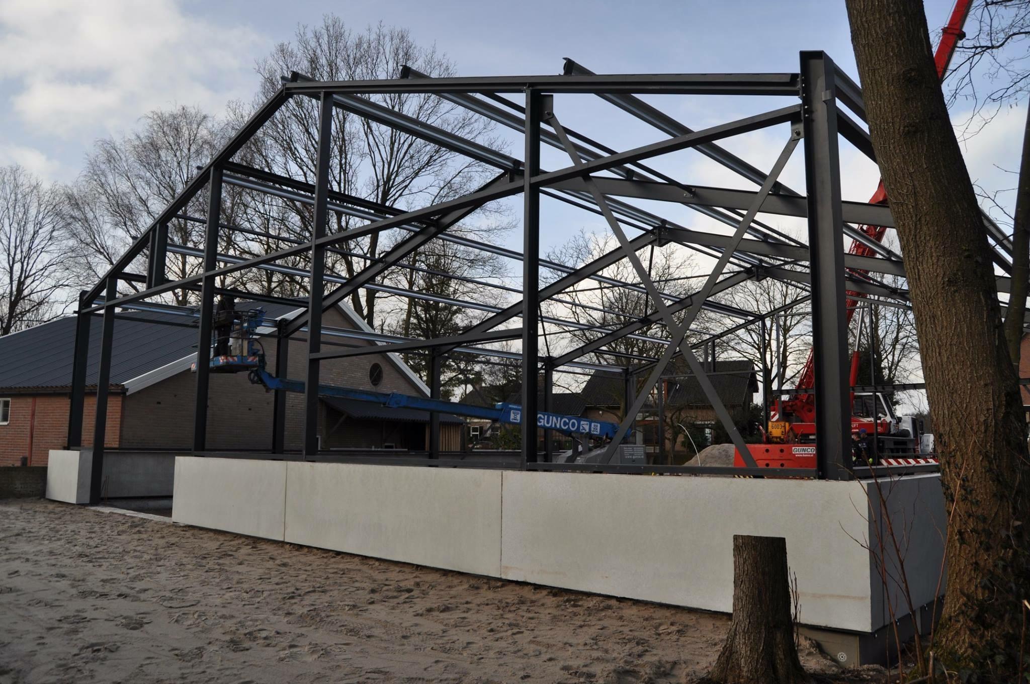 Montage van een Norel Hallenbouw Norm-hal