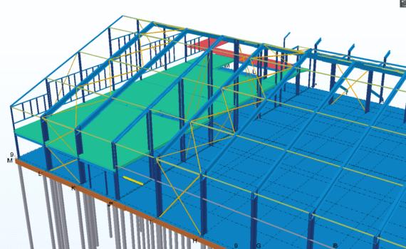 Nieuwbouw VZV 3D Tekla model