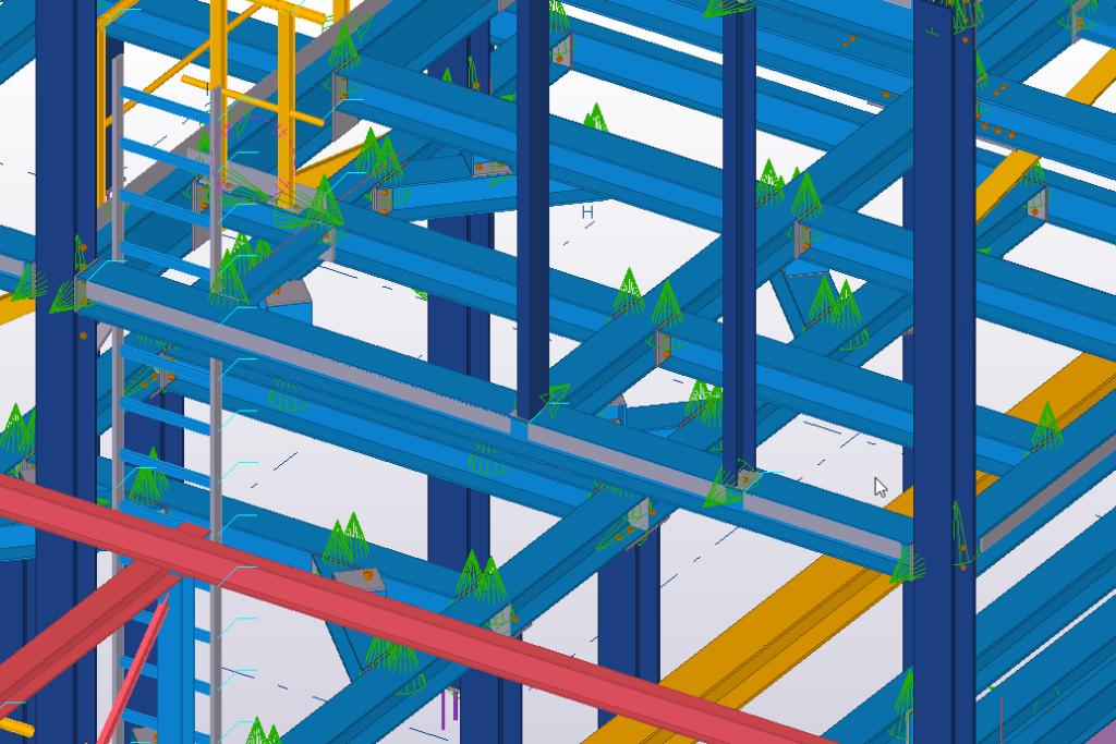 3D detail van staalconstructie in Tekla 2018