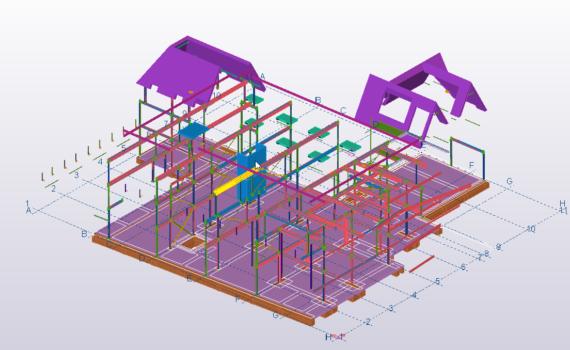 3D Tekla model afbeelding van het Igisz Hotel in Schagen