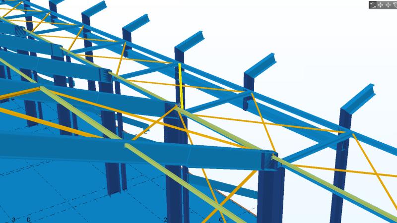 Nieuwbouw VZV 3D Tekla model 2